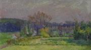 Jos Tielens: Landschap, geschilderd vanuit Tielens' atelier op de hoek Voldersstraat / Herkenberg