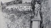 Tuin-Huize-door-Vlijt-1928-getekende-dagboeken-Den-Haag